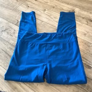 3/$25 Lularoe Leggings Solid Blue One SIze